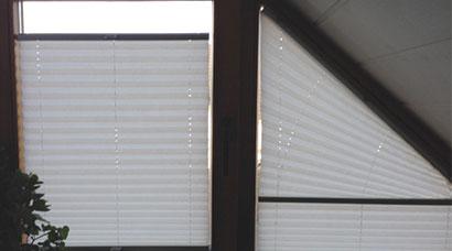 Plissee Rundfenster für besondere fensterformen gibt es dreieck plissee and more